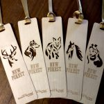 Thin wooden bookmarks