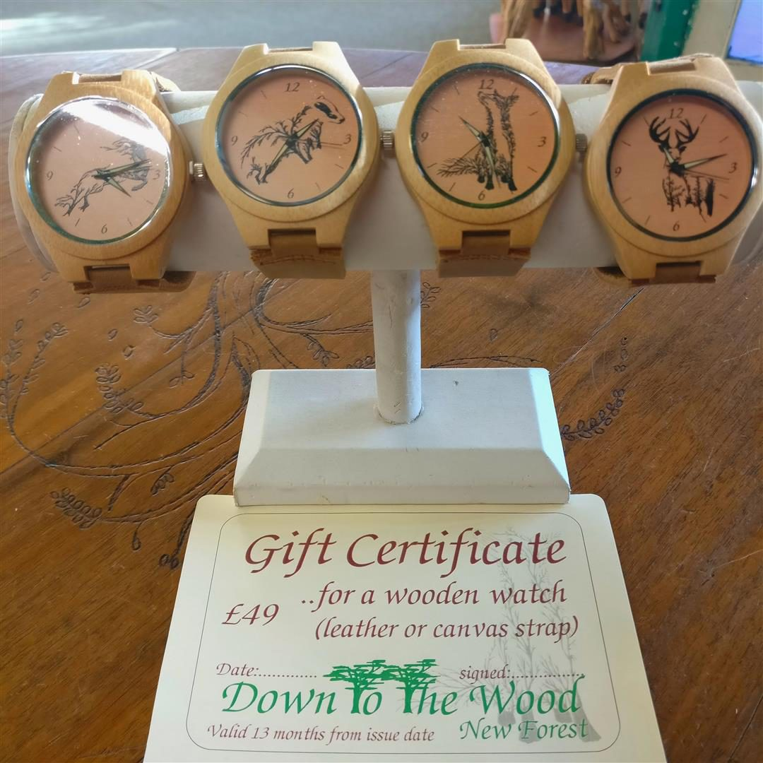 Wooden watches with our own images on the face