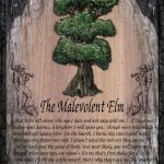 The Malevolent Elm greetings card