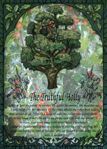 The Truthful Holly greetings card
