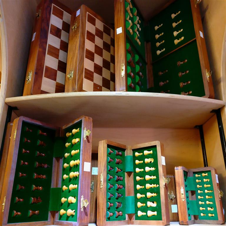 A selection of chess sets